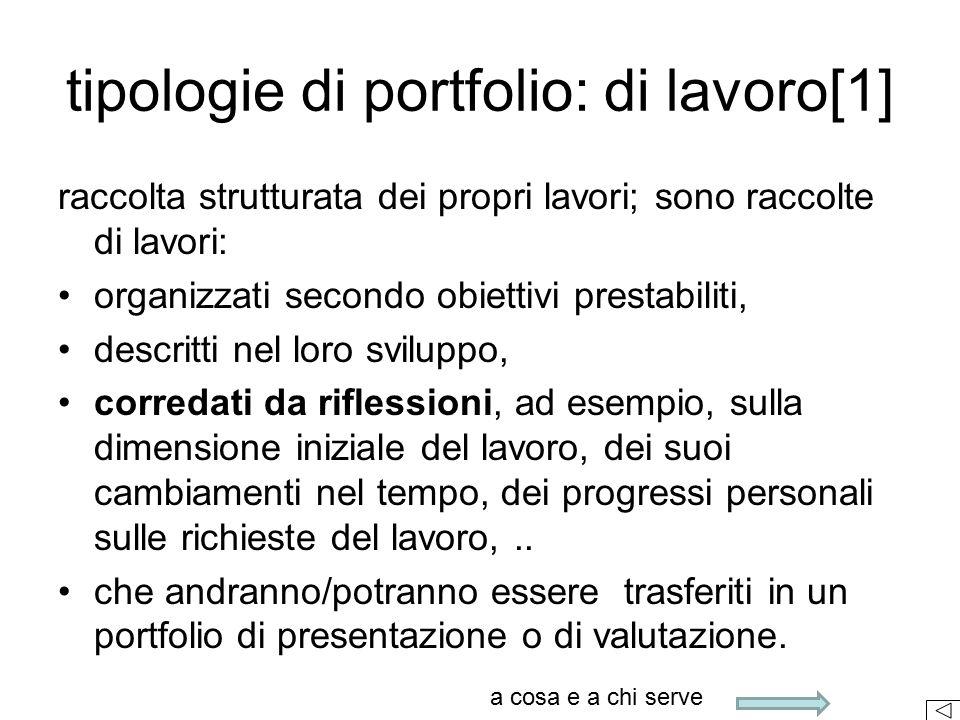 tipologie di portfolio: di lavoro[1]
